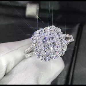 Sterling 925 Stamped Simulated Diamond Ring